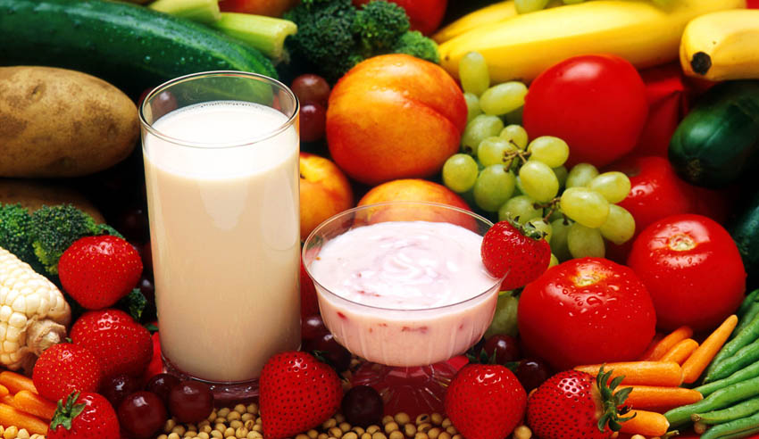 repas composés de fruits et legumes
